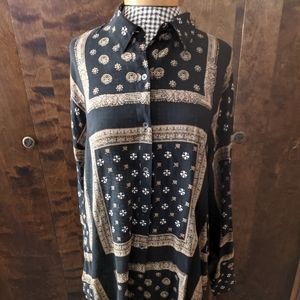 Free People Button Down Top